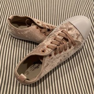 Blush Suede Sneakers (Size 10)